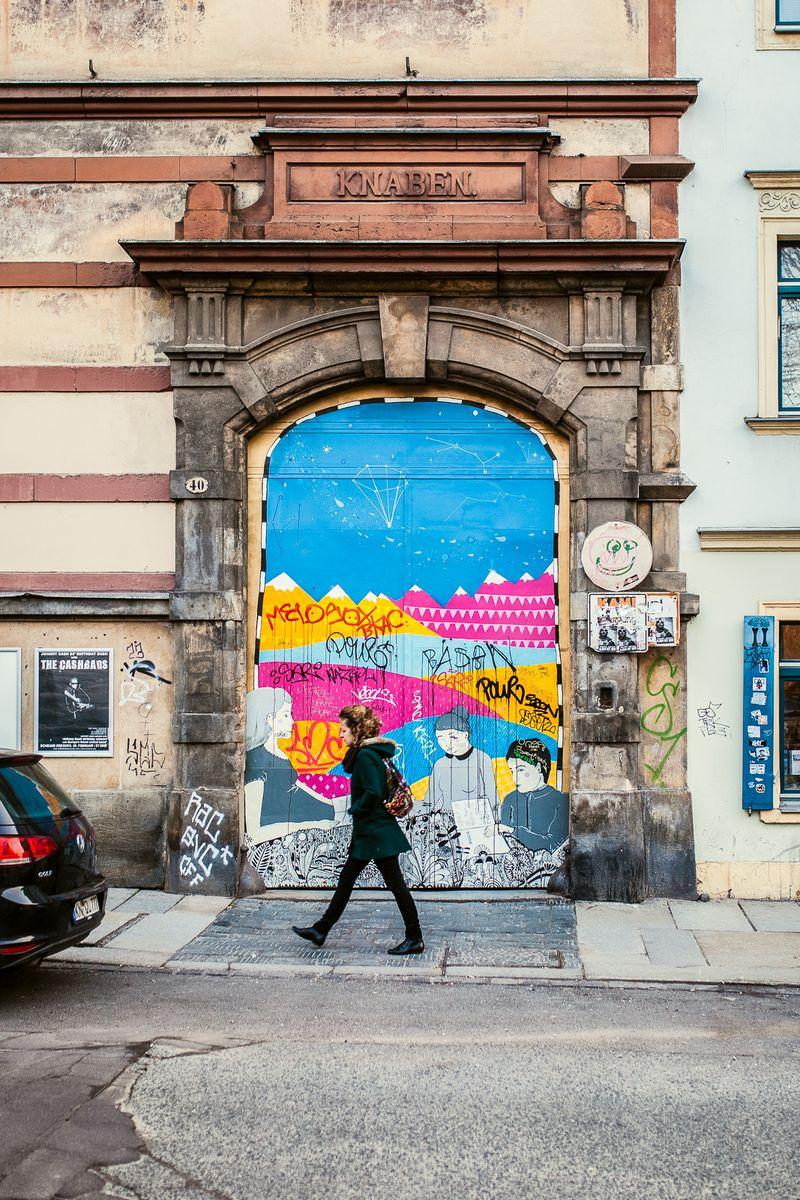 Auf der Louisenstraße in der Dresdner Neustadt - Foto: Stephan Böhlig